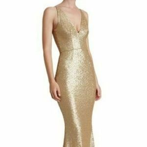 DRESS THE POPULATION 'HARPER' MERMAID BRUSHED GOLD